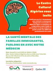 Atelier #2 : La santé mentale des familles immigrantes, parlons-en avec notre médecin