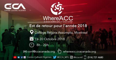 WhereACC : Une journée de conférences et d'ateliers sur le développement personnel